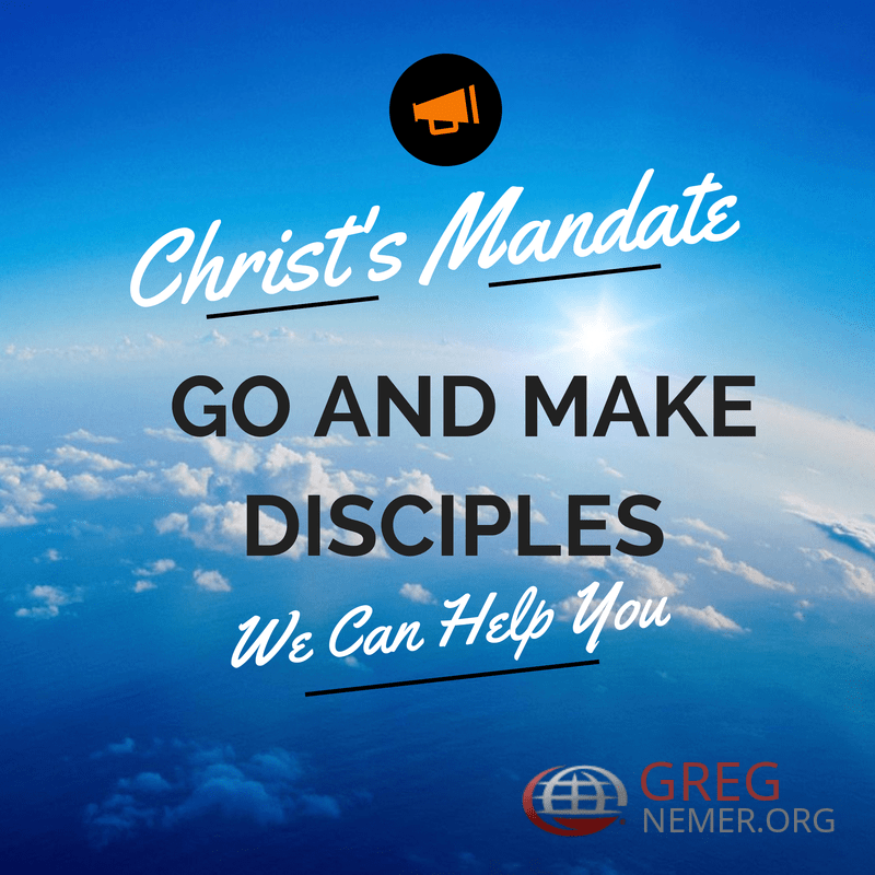 We can help you fulfill Christ's mandate to go and make disciples of all Nations